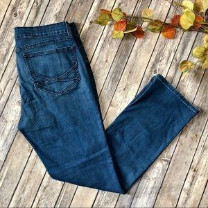 NYDJ Straight Leg Blue Jeans Stretchy High Rise